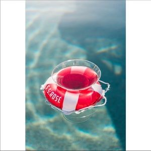 UO Wine Holder Pool Float Set S.S. Rosé